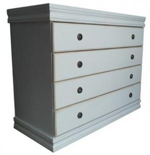 SAMOS 4 DRAWER CHEST 'white wash'
