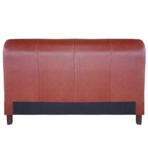 SLEIGH HEADBOARD (KING) 'LEATHER' cigar