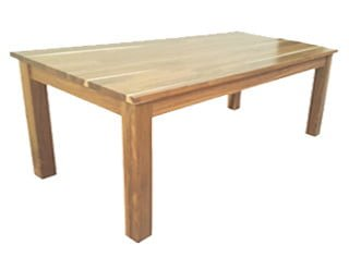 LOCAL DINING TABLE 10STR (2700 x 1100) 'WHITE WASH' solid hardwood