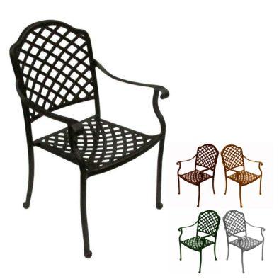 tuscan aluminium chair various colours